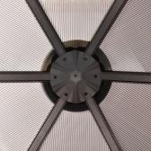 Павильон с занавесками из алюминия коричневый 310 x 270 x 265 см