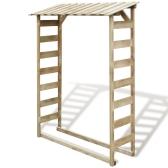 Cobertizo de almacenamiento de leña 150x44x176 cm de madera de pino impregnado