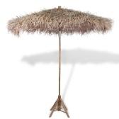 Parasol en bambou avec toit en feuille de bananier 210 cm