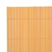 Clôture de jardin double face 150 × 500 cm Jaune