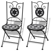 Mozaika Bistro Chair Black / White Zestaw 2