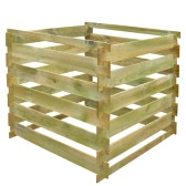 Square Slatted Wooden Compost Bin 0.54 m3