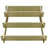 Jardinera de madera impregnada con 3 niveles 90 x 90 x 35 cm