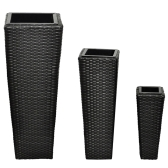 Modern vases in black rattan flower pots, vases from 3 September