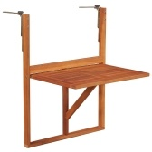 Balcony Table Solid Acacia Wood Brown