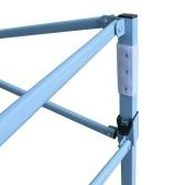 Автоматическая открытая беседка с 4 боковыми стенами 3x6 м Синяя