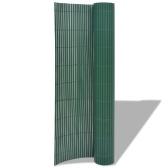 195x500 cm Podwójne Ogrodzenie Ogrodowe Zielone