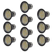 Spotlight Set 10 LED-Birnen Schwarz 3W E27 Warmweiß