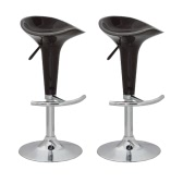 Bar Stool Design Brown ABS-plastic (set of 2) Sleek Design