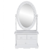 Table make up the classic style with oscillating oval mirror