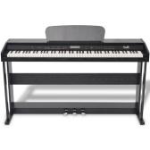 Pianoforte digitale con 88 tasti e pedali in melamina nera