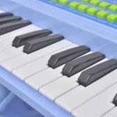Piano con 37 teclas y las heces del micrófono / juguete de los niños azules