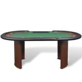 Стол для покера с фишками и дилера вместо бен Green 10 игроков