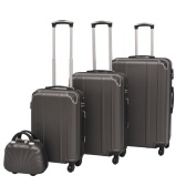 Four-piece hard shell trolley set anthracite
