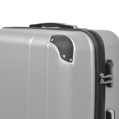 Four-piece hardshell trolley set silver