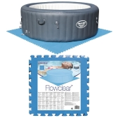 Bestway Pool Bodenschutz 8 Stück Blau 58220