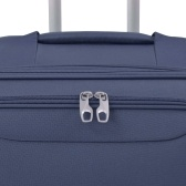 3-pc. Soft luggage trolley set navy blue