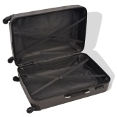 Rigid suitcase set four units anthracite