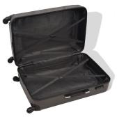 Жесткий чемодан с четырьмя единицами антрацит