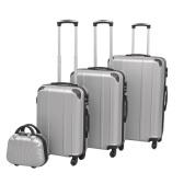 Sztywna walizka ustawiona na cztery jednostki srebra