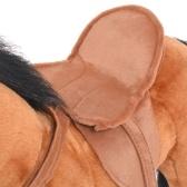 Stehendes Pferd des braunen Plüschspielzeugs