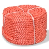 Corde tressée en polypropylène 12 mm 100 m Orange