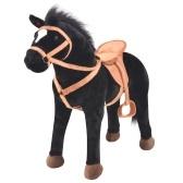 Stehendes Pferd Toy Black Plüschtier