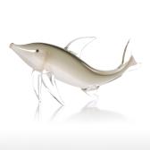Tooarts Szary Ryba Prezent Szkło Ornament Figurka Zwierzę Handblown Strona główna