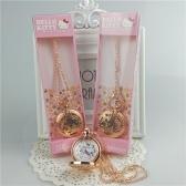 Hello Kitty Cat ожерелье полые карманные часы