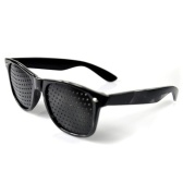 Small Holes Pinhole Glasses Anti-fatigue Improved Vision Eye Exercise Correction Glasses Black
