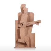ミュージシャンクリエイティブホームデコレーションサンドストーンテクスチャフィーリングクラフト抽象的キャラクター彫刻居間備品