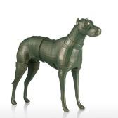 Armadura Dog Tomfeel Fiberglass Escultura decoração Home Dog Original Design