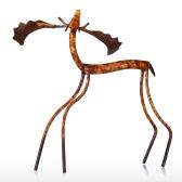Podnoszenie głowy łoś Tooarts Rzeźba żelaza Home Decoration Crafts Rzeźba Metalowa Zwierzęca