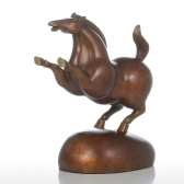 Happy Plump Pony Tooarts Handmade Bronze Sculpture Modern Art Home Decor