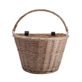 D-shaped Handlebar Bike Basket Wicker Front HandlebarBicycle Basket