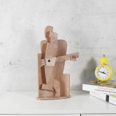 Accordion Player Creative Home Decoration Sandstone Texture Feeling Crafts Abstract Character Sculpture Living Room Furnishings