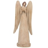 Estátua do anjo de Tooarts Pray Angel Resin Art Sculpture