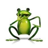 TOOARTS Metall-Skulptur Mouth-Covered Frosch von Einrichtungs Artikel Handwerk