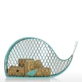 Whale Cork Container Metal Iron Handmade Storage Jar Banco de dinheiro Baleia em forma