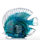 Blue Tropical Fish Glass Skulptur Home Dekoration Glas Fisch