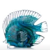 Blue Tropical Fish Glass Sculpture Décoration intérieure Verre Poisson