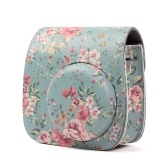 PU Camera Bag Protective Case Flower Printing Pouch Cover