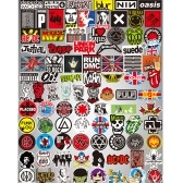 100 Pcs ROCK Band Stickers Adesivos de Mistura