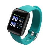 Color screen 116plus smart bracelet D13 bracelet step sleep monitoring IP67 waterproof USB direct charge spot Fitpro-green