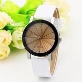 Großhandel Student Paar Gürtel Uhr Mode koreanische Version des braunen Glas Meteor Uhr Ray Point Bohrer Uhr weißen Gürtel weißes Gesicht weiblich (Kunststoff)