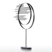 Два круга Железная скульптура Абстрактная скульптура Современная скульптура Железный круг Домашний декор Современное и краткое произведение