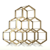 Honeycomb Weinregal Metall Weinhalter Innovative Weinhalter 6 Flasche Rack Horizontale Aufbewahrung Kompaktes Design Freie Standing Home Decor Praktisches Geschenk