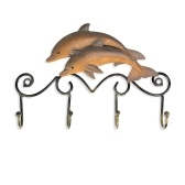 Tooarts Iron Dolphin Wall Hooks Antique Finish Iron Clothes Hanger Rack Screws Included Wall Mounted