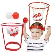 Creative Toy Plastic Pitching Basketball Head Basketball - Child Interactive Toys Hat