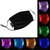 Máscara luminosa LED 7 cores 4 modos USB capa ajustável recarregável